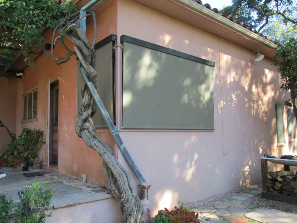 Exterior drop shade for window