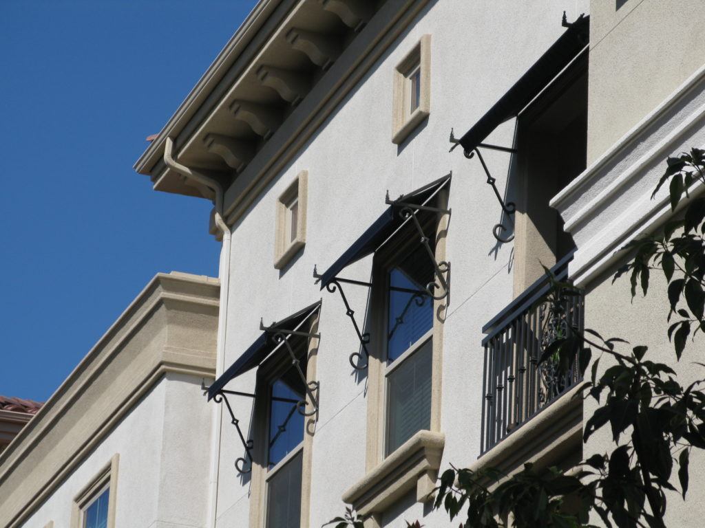 Custom Mediterranean Awnings With Scrolls for Small Windows_1