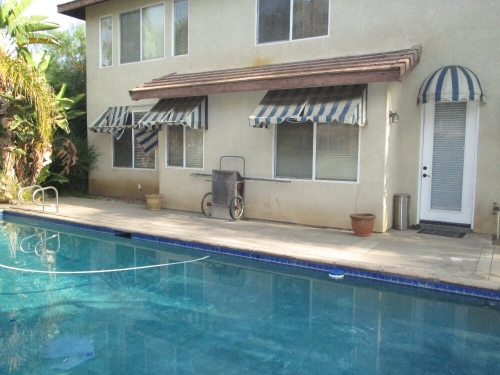 Before Residential Awning Installation in Anaheim Hills, CA