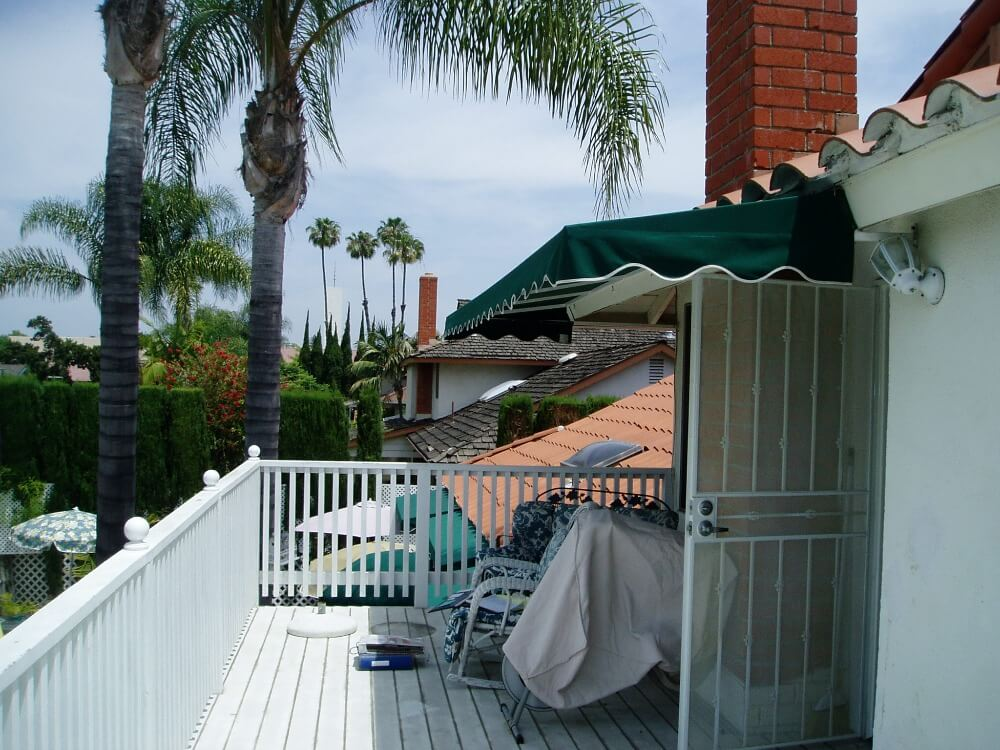 Before Residential Awning Installation in Cypress, CA_1