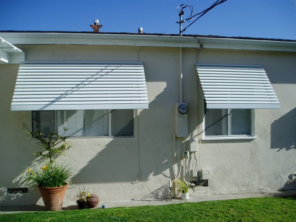 Residential awning install in Garden Grove, CA
