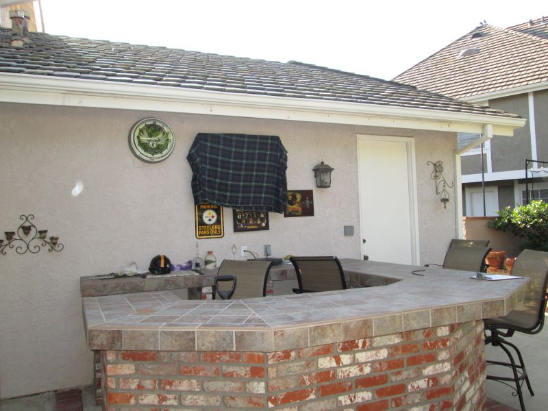 Residential Back Patio Cabana Install in California_2