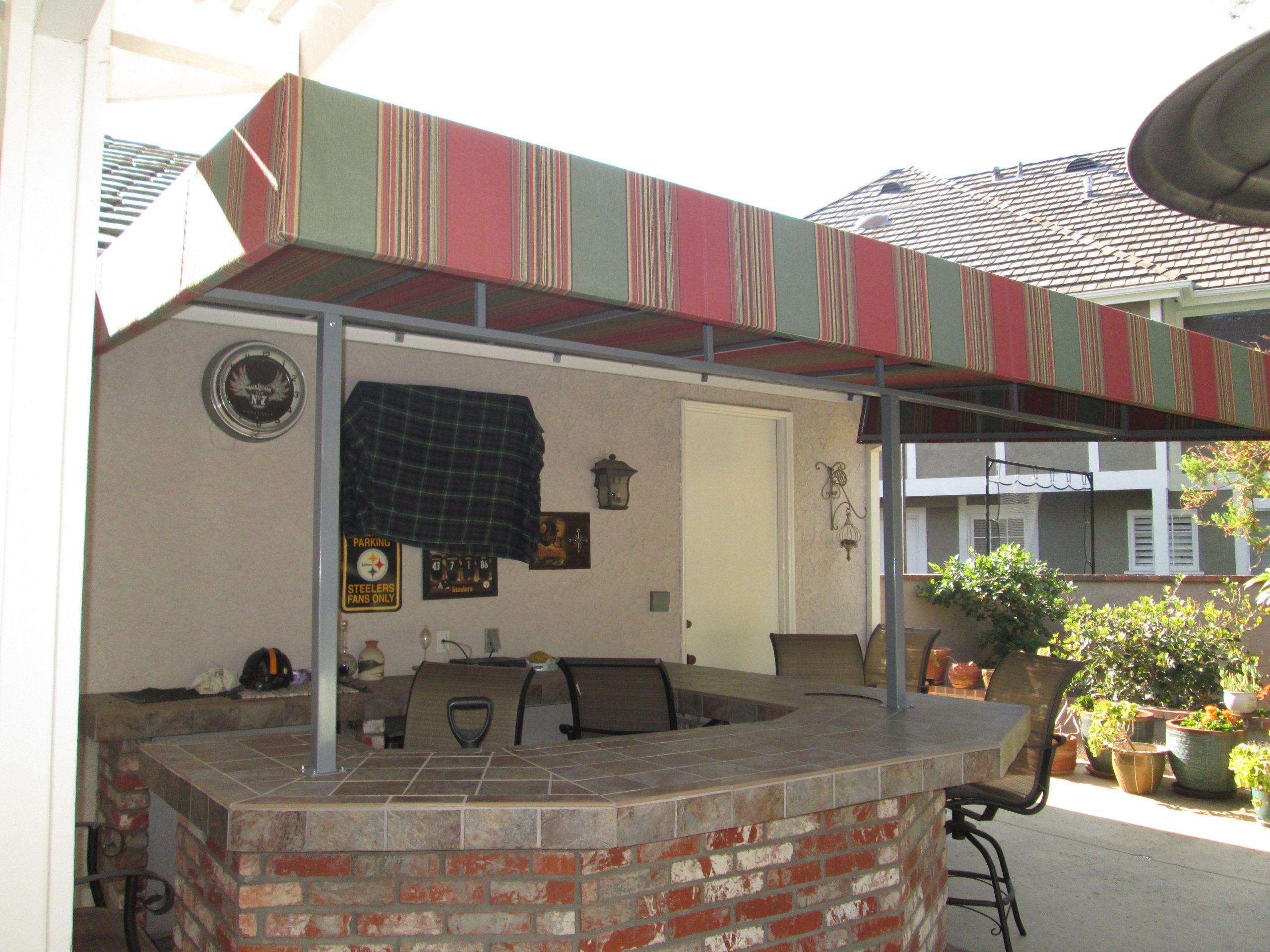 Residential Back Patio Cabana Install in California_6