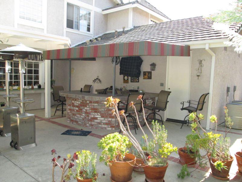 Residential Back Patio Cabana Install in California_1