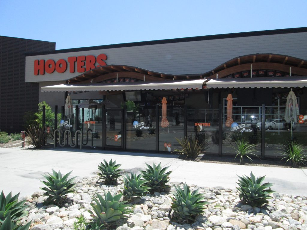 Commercial Awnings Installed in Hooters