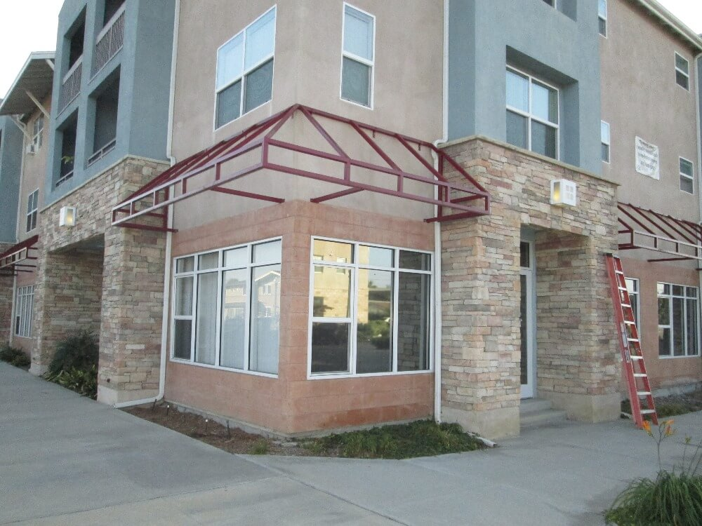 During Commercial Awnings Installation in Anaheim, CA