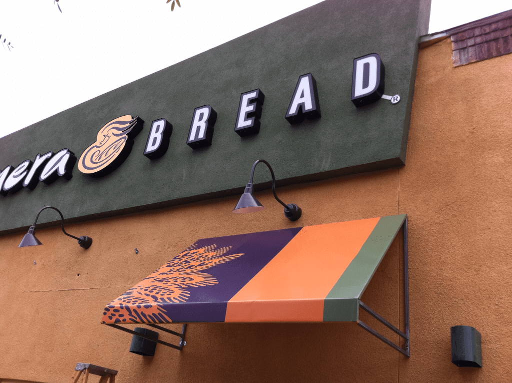 Panera Bread Restaurant Awnings, Patio Covers, and Curtains